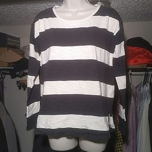 Madewell Navy Striped Shirt, Small